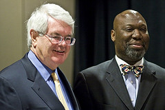 Michael Williams with Newt Gingrich