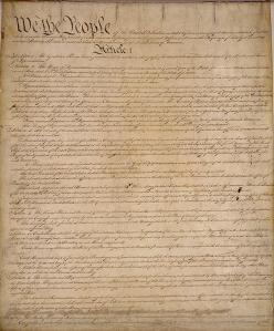 United States Constitution, page 1