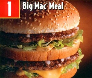 Big Mac Meal sign