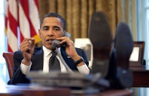 Obaman on phone with Netanyahu