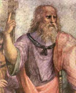 Painting of Plato