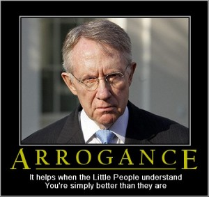 Harry Reid - Arrogance