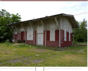 Dilapidated train station in Glassboro NJ