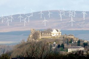 Wind Farm -- The Braes O'Doune near Stirling Castle in Scotland