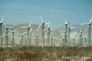 Wind Farm in Palm Springs, California